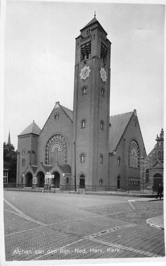 Ansichtkaart Alphen aan den Rijn Ned. Hervormde Kerk 1946 HC903