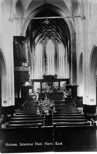 Ansichtkaart Hattem Interieur Ned. Hervormde Kerk 1946 HC904