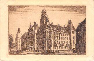 Ansichtkaart Rotterdam Etsje Stadhuis Coolsingel 1943 HC908