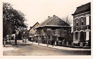 Ansichtkaart Waddinxveen Oranjelaan hoek Kerkweg Auto 1949 HC91