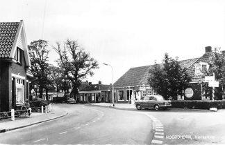 Ansichtkaart Noordhorn Viersprong Gulf Benzinepomp Garage Auto 1965 HC915