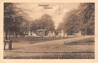 Ansichtkaart Groningen Tram Heereplein 1925 HC917