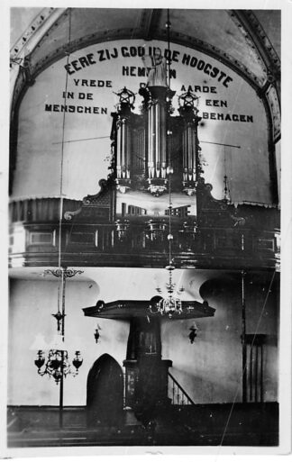 Ansichtkaart Yerseke Ned. Hervormde Kerk met orgel en preekstoel 1946 HC942
