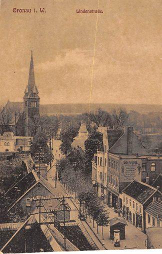 Ansichtkaart Gronau i. W. Lindenstrasse 1925 Duitsland HC946