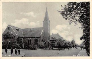 Ansichtkaart Haren Gereformeerde Kerk 1932 HC948
