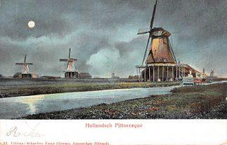 Ansichtkaart Zaandam Hollandsch Pittoresque Molens HC963