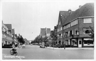 Ansichtkaart Groningen Parkweg Auto HC974