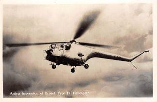 Ansichtkaart Luchtvaart Bristol 171 Helicopter Engeland 1955 Vliegtuigen HC978