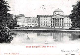 Ansichtkaart Duitsland Schloss Wilhelmshohe bei Cassel 1903 Deutschland Europa HC991