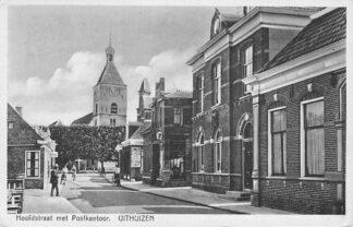 Ansichtkaart Uithuizen Hoofdstraat met Postkantoor 1942 HC996