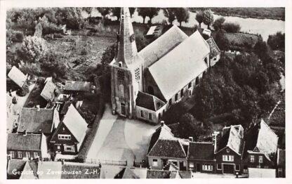 Ansichtkaart Zevenhuizen (ZH) Luchtfoto Kerk 1961 HC1555