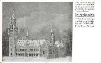 Ansichtkaart 's-Gravenhage Reclame Bouwmap voorstellende het Vredespaleis HC1558
