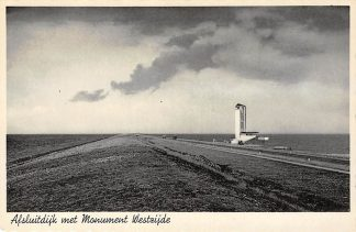 Ansichtkaart Afsluitdijk met Monument Westzijde HC1569