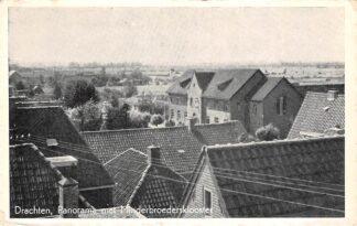 Ansichtkaart Drachten Panorama met Minderbroedersklooster 1953 HC1571