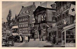 Ansichtkaart Gouda De Waag Kaasmarkt Markt Hotel Restaurant De Zalm HC1592