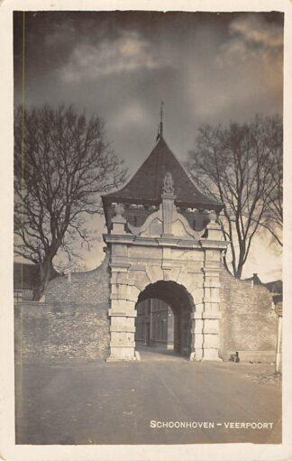 Ansichtkaart Schoonhoven Fotokaart Photo Rotatie Pers V.d. List Veerpoort 1930 HC1597