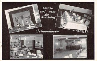 Ansichtkaart Schoonhoven Reclame Bonds- Café - Restaurant De Stadsherberg HC1609