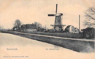 Ansichtkaart Reeuwijk De (Bodegraafse) Straatweg Breevaart met Molen Gouda Type Vivat HC1612
