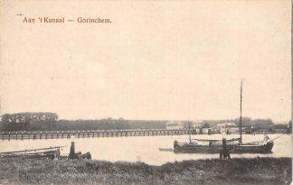 Ansichtkaart Gorinchem 1927 Aan 't Kanaal Binnenvaart schepen HC1624