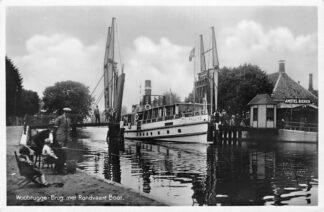 Ansichtkaart Woubrugge Brug met Rondvaart Boot Pauline Binnenvaart schepen HC1648