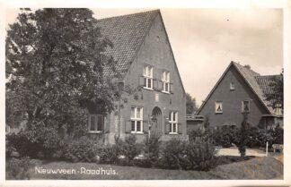 Ansichtkaart Nieuwveen Fotokaart Raadhuis 1945 HC1649