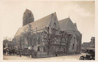 Ansichtkaart Oudewater Fotokaart Photo Rotatie Pers Kerk Auto HC1654