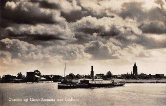Ansichtkaart Groot-Ammers met Lekboot Binnenvaart schepen HC1655