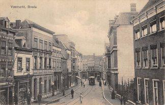 Ansichtkaart Breda Paarden tram Veemarkt 1917 HC1659