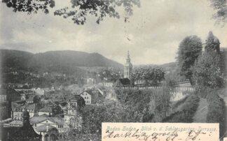 Ansichtkaart Baden-Baden 1899 Blick v.d. Schlossgarten -Terrasse Duitsland HC1666