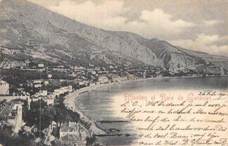 Ansichtkaart Menton et Baie de Caravan 1901 Frankrijk HC1669