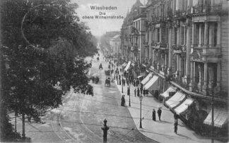 Ansichtkaart Wiesbaden Die obere Wilmelmstrasse 1913 Duitsland HC1671