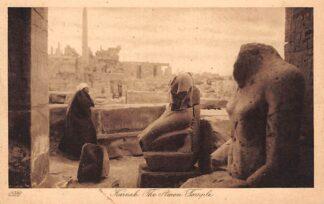 Ansichtkaart Karnak The Amon Temple 1930 Egypte Afrika HC1673