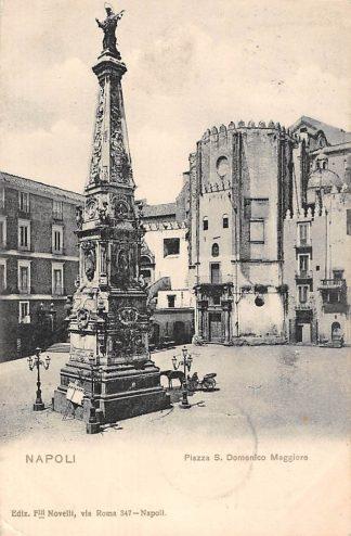 Ansichtkaart Napoli 1903 Piazza S. Domenico Maggiore Italië HC1676