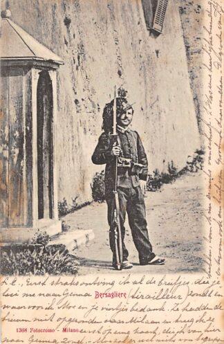Ansichtkaart Cadenabbia Bersagliere 1902 Militair Italië HC1677