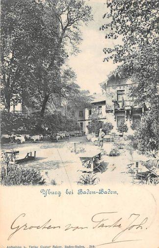 Ansichtkaart Yburg bei Baden-Baden Steinbach 1902 Duitsland HC1678