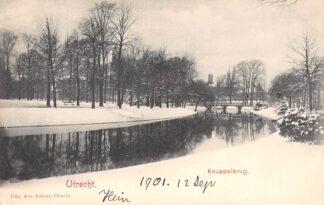 Ansichtkaart Utrecht 1901 Knuppelbrug in de winter sneeuw HC1692