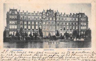 Ansichtkaart Amsterdam 1902 Amstel Hotel Kunstanstalt HERZ 47 HC1700