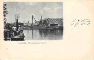 Ansichtkaart Vlissingen 1900 Scheepswerf Kon. Maatschappij De Schelde Sleepboot Scheepvaart HC1701