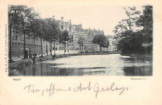 Ansichtkaart Schoonhoven Singel Uitg. S. en W.N. van Nooten HC1730