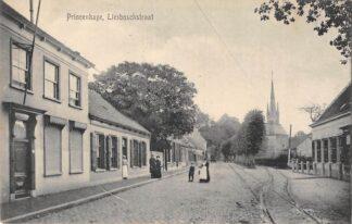 Ansichtkaart Princenhage Breda Liesboschstraat met wissel tramspoor 1916 HC1737