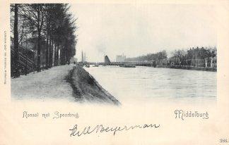 Ansichtkaart Middelburg Kanaal met Spoorbrug Spoorwegen HC1743