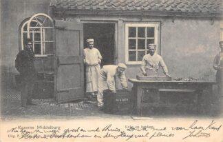 Ansichtkaart Middelburg Kazerne Koks en Keuken Militair 1904 HC1745