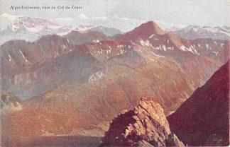 Ansichtkaart Alpes Italiennes vues du Col du Geant Reclame Chocolat au Lait Suisse F.-L. Cailler Chocolade Zwitserland HC1749