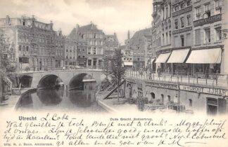 Ansichtkaart Utrecht 1902 Oude Gracht Bakkerbrug HC1753