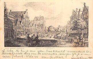 Ansichtkaart Oud Utrecht Oude Gracht 1900 Jansbrug HC1755