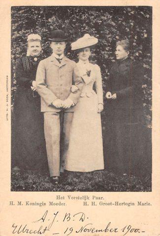 Ansichtkaart Koningshuis Het Vorstelijk paar Koningin Emma Wilhelmina en Hendrik Groot-Hertogin Marie HC1778