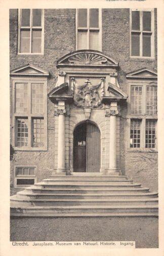 Ansichtkaart Utrecht 1915 Jansplaats Museum van Natuurl. Historie Ingang HC1781