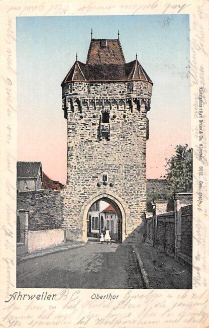 Ansichtkaart Ahrweiler 1902 Oberthor Reclame stempel Hotel Stern Duitsland HC1784
