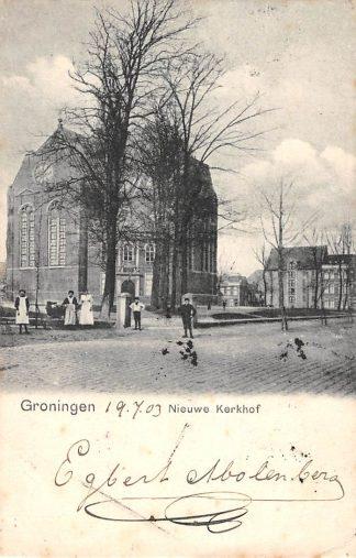 Ansichtkaart Groningen 1903 Nieuwe Kerkhof HC1787