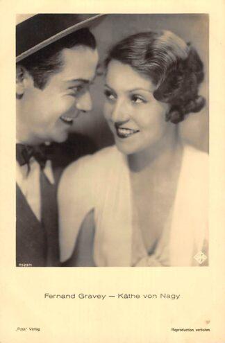 Ansichtkaart Filmster Fernand Gravey Kathe von Nagy Ross Verlag 7525/1 HC1795